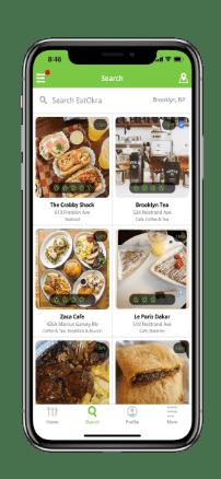 Eat Okra iPhone Mockup